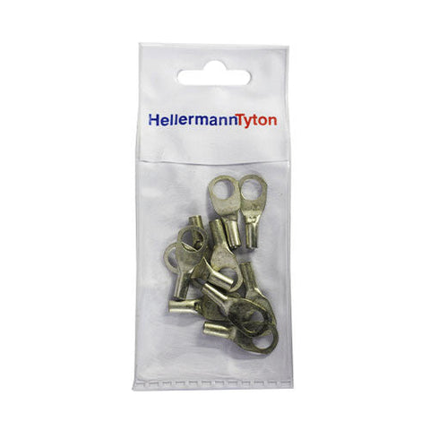 HellermannTyton Cable Lugs HTB68 - 6mm x 8mm - 10 Pack