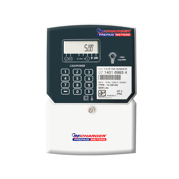 Recharger Gemlite Single Phase Prepaid Electricity Meter