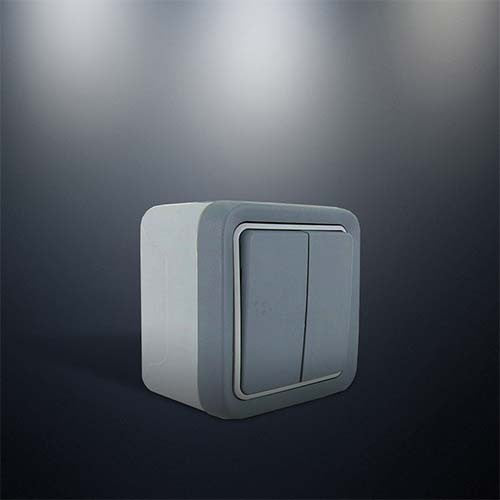 Legrand 2 Lever Plexo Surface Mounted Switch Grey