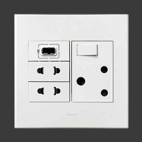 Legrand Arteor 1 X Usb Socket White