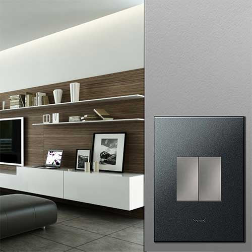 Legrand 2 Lever Switch Graphite