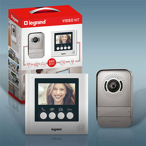 "Legrand 4.3"" Complete Colour Video Kit - White"