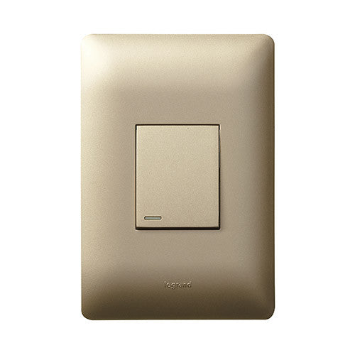 Legrand Ysalis 1 Lever Intermediate Switch Champagne
