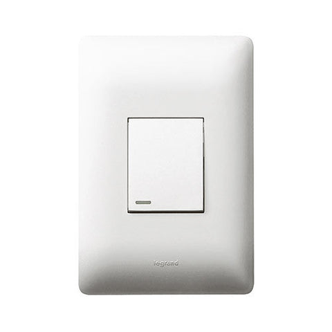 Legrand Ysalis 1 Lever Switch 2 Way - White PY1224WHT