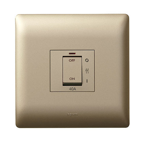 Legrand Ysalis 40A Isolator Switch - Champagne PYISO40ACHA