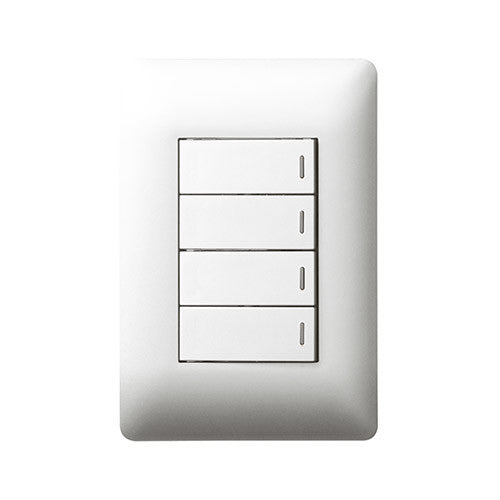 Legrand Ysalis 4 Lever Switch 1 x 2 Way - White PY4224WHT
