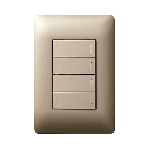 Legrand Ysalis 4 Lever Switch - Champagne PY424CHA