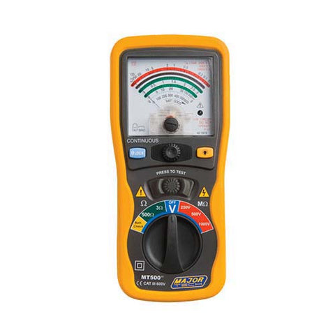 Major Tech Analogue Insulation Tester 250/500/1000V MT500