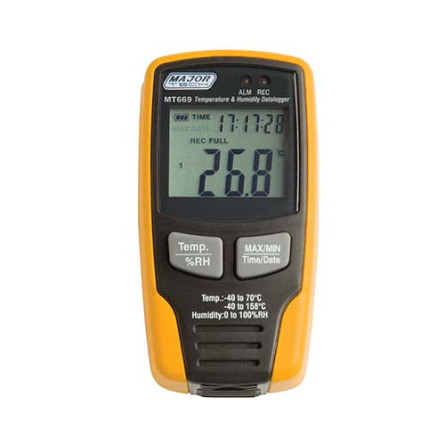 Major Tech Temperature Data Logger With Lcd Display