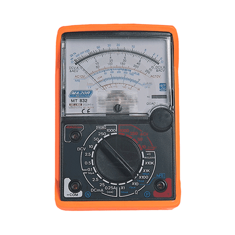 Major Tech Analogue Multimeter with Rubber Holster