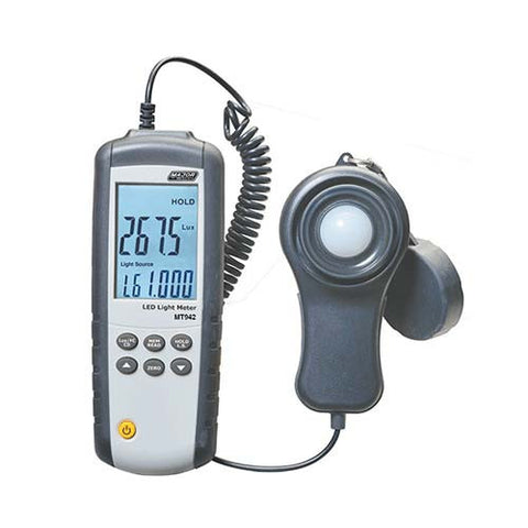 Major Tech Digital LED Light Meter, 0.1 Lux to 400,000 Lux MT942
