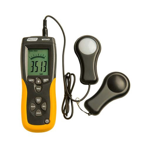 Major Tech Data Logging Light Meter Up To 400 000 Lux