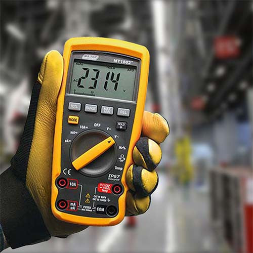 Auto Digital Multimeter Industrial Temperature Cat Iv 600V