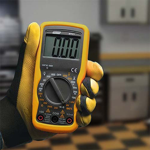 Major Tech Compact Auto Digital Multimeter - Battery Tester MT21