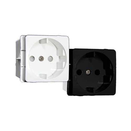VETi 16A Schuko Socket Outlet Module