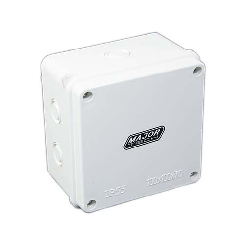 VETi Junction Box with Knockouts 100mm - VJ10107G