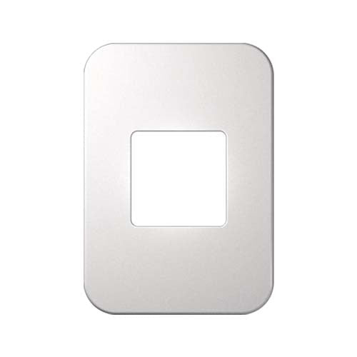 VETi 1 Double Module Cover Plate - Cream with white trim