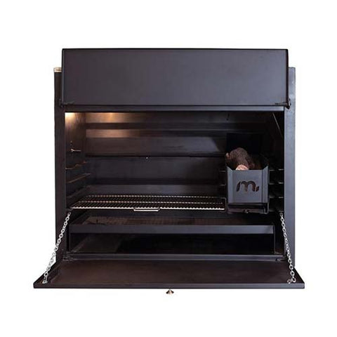 Megamaster 1000 Deluxe Built In Braai Black