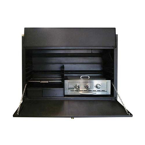 Megamaster 1200 Built In Gas Combo Braai Black