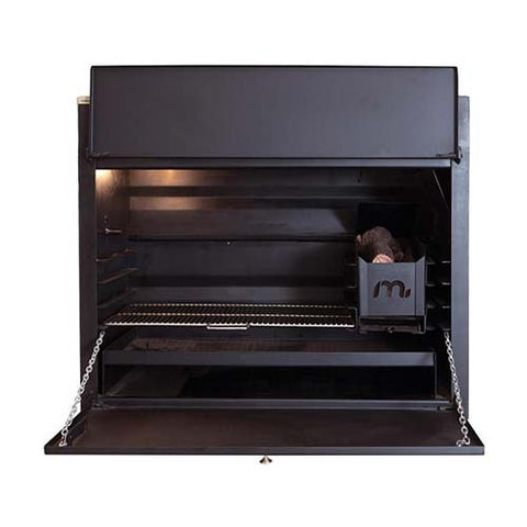 Megamaster 1200 Deluxe Built In Braai Black