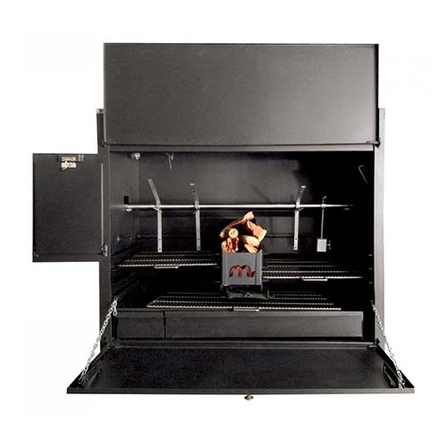 Megamaster 1200 Deluxe Built In Spit Braai Black