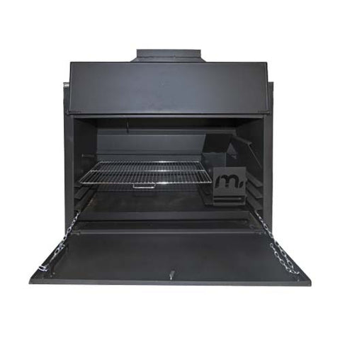 Megamaster 1000 Sizzler Built In Braai Black