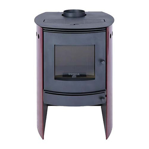 Megamaster BOSCA Spirit  Closed Combustion Fireplace 380 - Burgundy