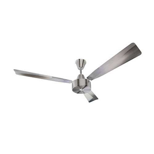 Solent Brushed Aluminium 3 Blade 1400 Ceiling Fan - Brushed Aluminium