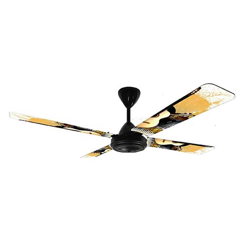 Solent Novelty Boys 4 Blade 1200 Ceiling Fan - Black