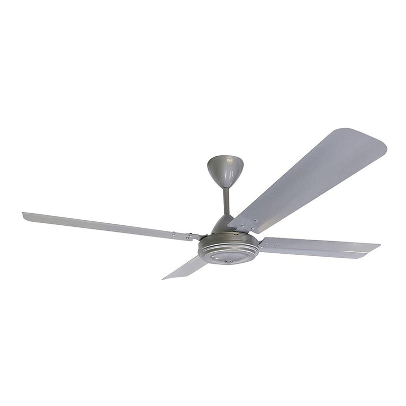 "Solent 47"" 4 Blade High Breeze Ceiling Fan - Brushed Silver"