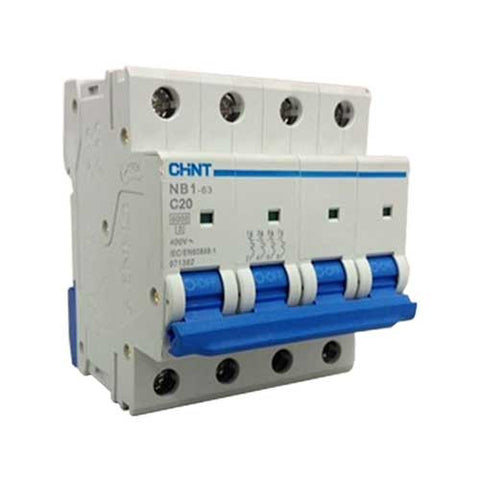 Chint 6kA 4 Pole C Curve Circuit Breaker