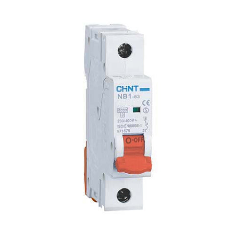 Chint 6kA 1 Pole D Curve Circuit Breaker