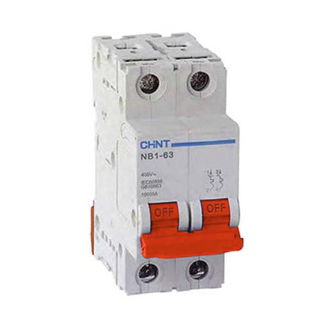 Chint 6kA 2 Pole D Curve Circuit Breaker