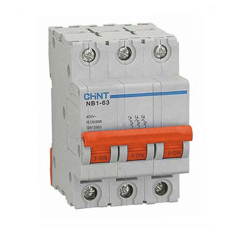 Chint 6Ka 3 Pole D Curve Circuit Breaker