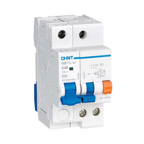 Chint 30mA 1P+N Earth Leakage Unit