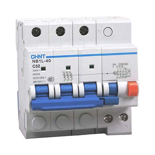 Chint 30mA 3P+N Earth Leakage Unit