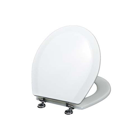 Toilet Seat With Chrome Plated Hinges