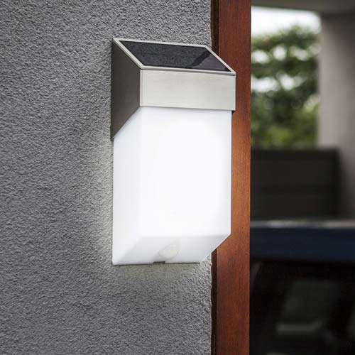 Lutec Solstel LED Solar Wall Light 1.3W