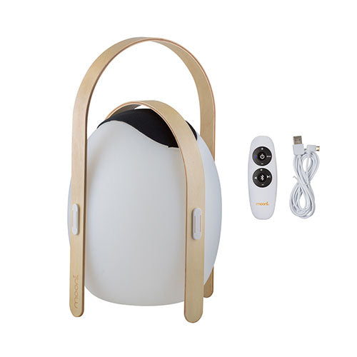 Mooni Ovo Speaker Lantern With Wooden Handle