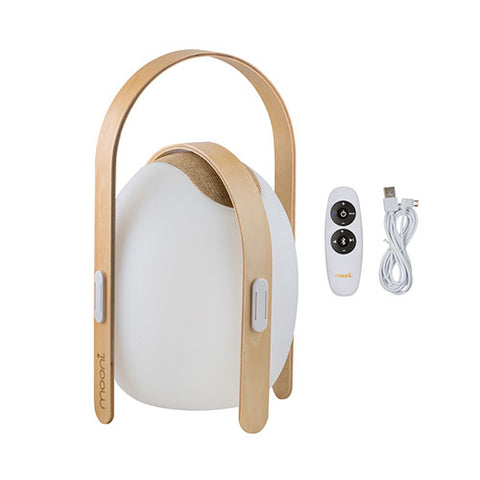Mooni Ovo Mini Speaker Lantern With Wooden Handle