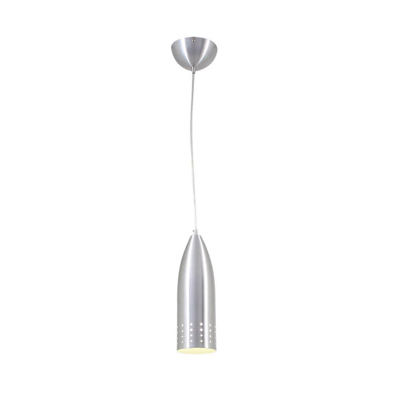 Silver Conical 1 Light Pendant