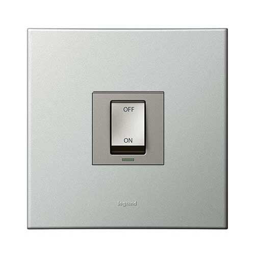 Legrand Arteor Double Pole Isolator Switch 40A - Pearl Aluminium P40AMPA