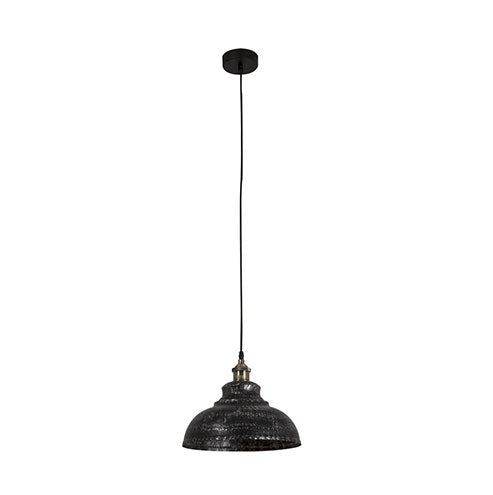 Eurolux Farmhouse 1 Light Pendant - Black Silver