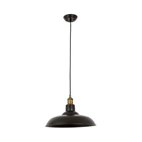Bright Star Matt Black 1 Light Metal Pendant
