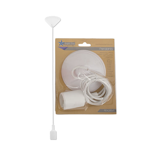 Bright Star PVC & Silicon 1 Light Pendant Blister Packs
