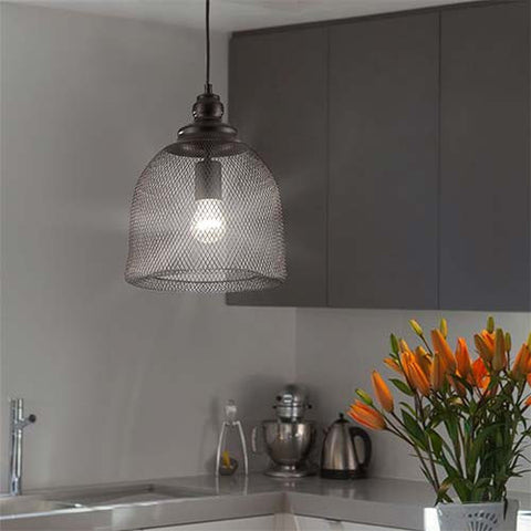 Bright Star Netted Metal Pendant
