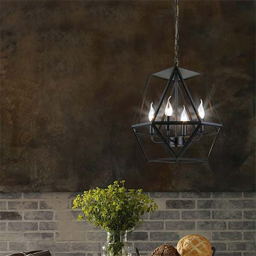 Bright Star 4 Light Metal Pendant