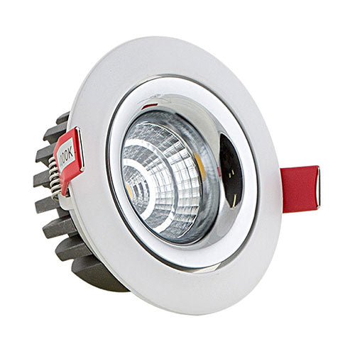 Eurolux LED Recessed Downlight 7W Ivory Chrome White