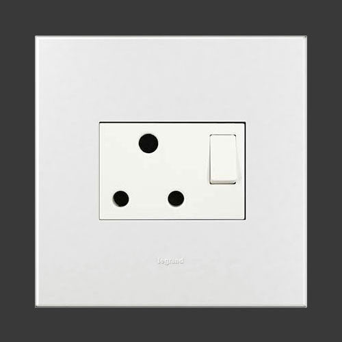 Legrand Single Switched Socket 4 X 4 White