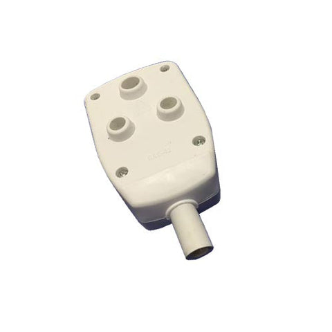 Matelec Pvc Double Coupler White